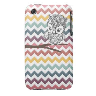 Retro Owl Chevron iPhone 3G/3GS Case iPhone 3 Cover