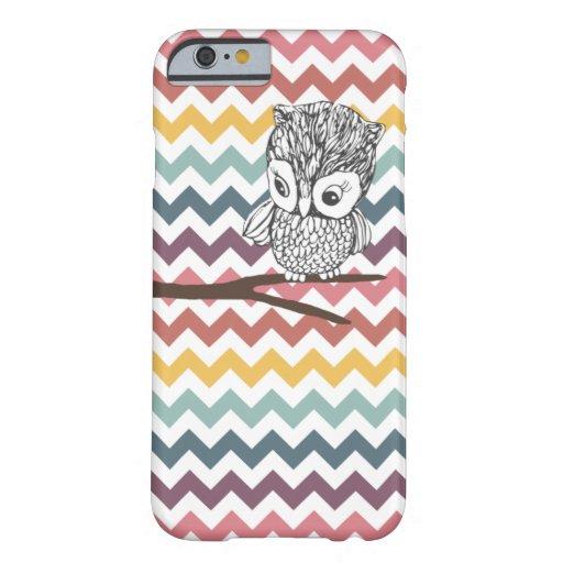 Retro Owl Chevron iPhone 6 case