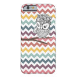 Retro Owl Chevron iPhone 6 case Barely There iPhone 6 Case