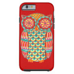 Retro Owl Groovy iPhone 6 case Tough iPhone 6 Case