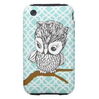 Retro Owl iPhone 3G/3GS Case Tough iPhone 3 Cases