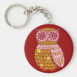 Retro Owl keychain