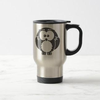 Retro Owl 15 Oz Stainless Steel Travel Mug