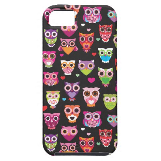 Retro owl pattern illustration iPhone 5 covers