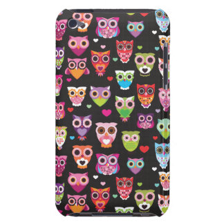 Retro owl pattern illustration barely there iPod cover