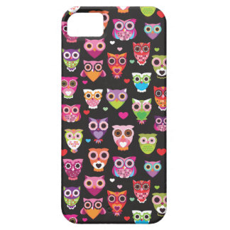 Retro owl pattern illustration iPhone 5 cover