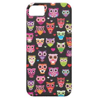 Retro owl pattern illustration iPhone 5 cover
