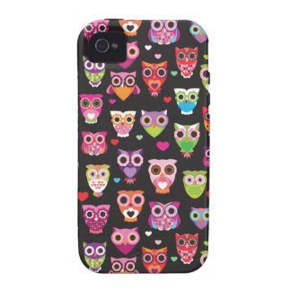 Retro owl pattern illustration iPhone 4/4S cases