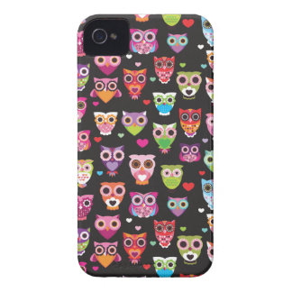 Retro owl pattern illustration iPhone 4 covers