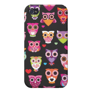 Retro owl pattern illustration iPhone 4/4S cover