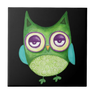 Retro Owl Tile