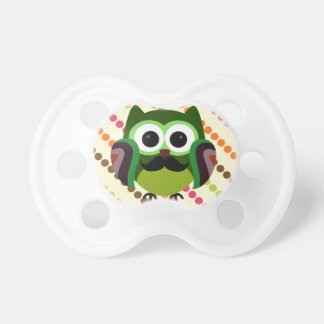 Retro Owl with Mustache Dummy