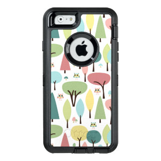 Retro Owlets in the Woods iPhone 6 Otterbox Case