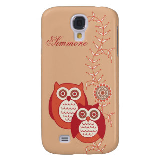 Retro Owls 3G/3GS  Galaxy S4 Case