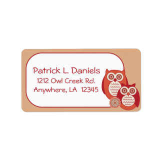 Retro Owls Address Labels