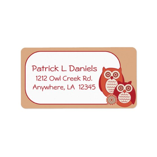 Retro Owls Address Labels