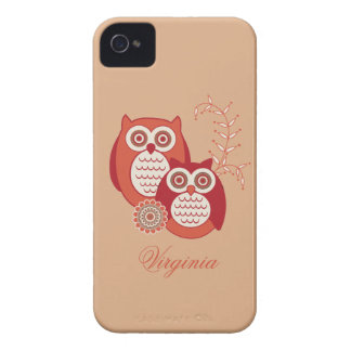 Retro Owls BlackBerry Bold Case-Mate Barely There iPhone 4 Cover
