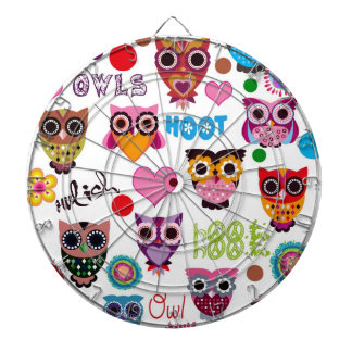 Retro Owls Dartboard