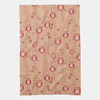 Retro Owls Kitchen Towel
