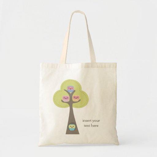 Retro Owls Personalised Gift Shoulder Bag