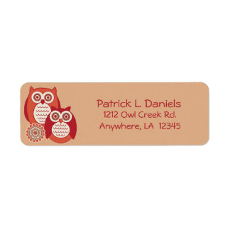 Retro Owls Return Address Labels