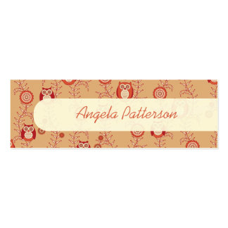 Retro Owls Skinny Mommy Calling Cards Business Cards