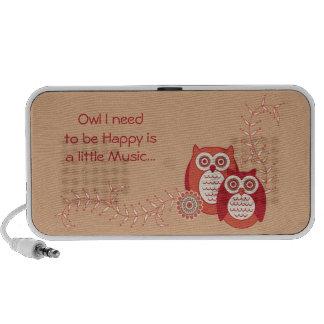 Retro Owls Speaker