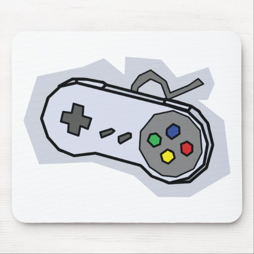 Retro Pad - Video Games Gamer Gaming Snes Mouse Pads