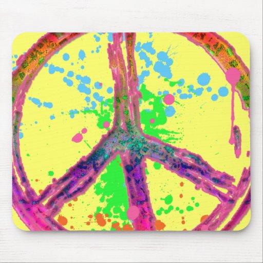 RETRO PAINT SPLATTER PEACE SIGN