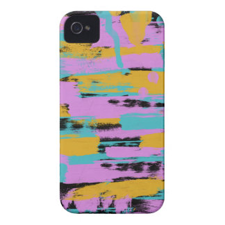 Retro Paint Strokes iPhone 4 Case-Mate Cases