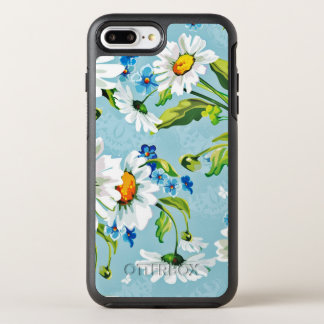 Retro Painted Flower Design OtterBox Symmetry iPhone 8 Plus/7 Plus Case