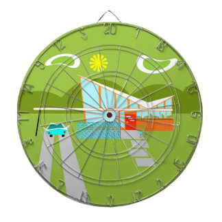 Retro Palm Springs House Dart Board