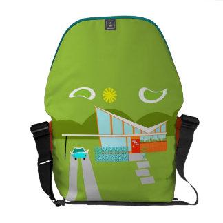 Retro Palm Springs House Messenger Bag