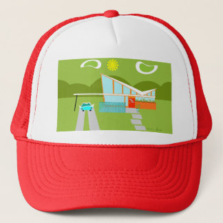 Retro Palm Springs House Trucker Hat
