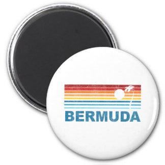 Retro Palm Tree Bermuda Magnet