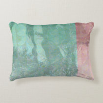 Retro Palm Trees Reflection Decorative Cushion