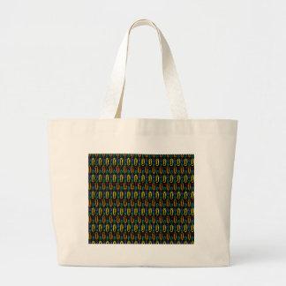 Retro Paper Clip Pattern Tote Bag