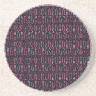 Retro Paper Clip Pattern Coasters