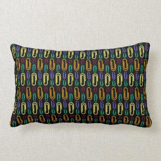 Retro Paper Clip Pattern Throw Pillow