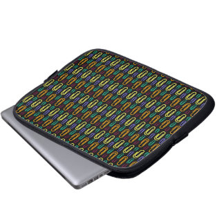 Retro Paper Clip Pattern Laptop Computer Sleeves