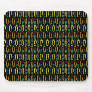 Retro Paper Clip Pattern Mousepads