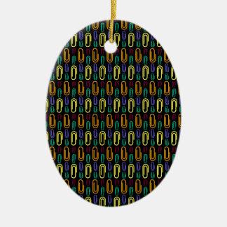 Retro Paper Clip Pattern Ornament