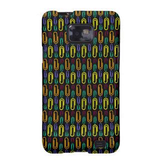 Retro Paper Clip Pattern Samsung Galaxy SII Cases