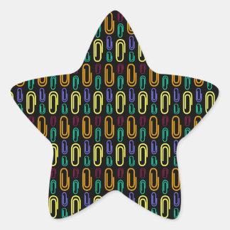 Retro Paper Clip Pattern Sticker