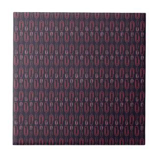Retro Paper Clip Pattern Tile