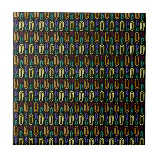 Retro Paper Clip Pattern Tiles