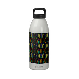 Retro Paper Clip Pattern Water Bottle