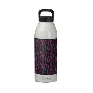 Retro Paper Clip Pattern Water Bottles