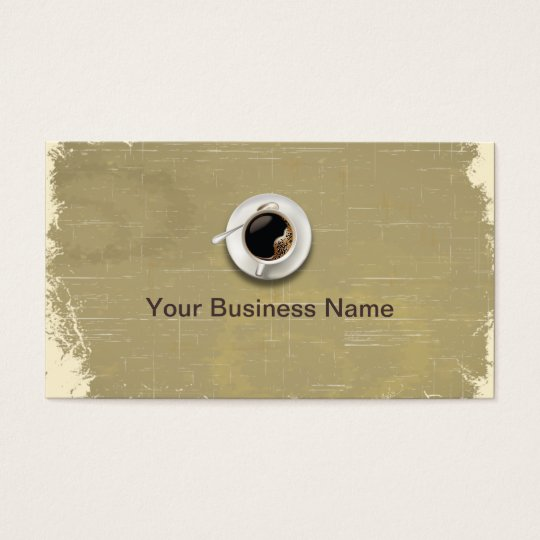 Retro Paper Texture Coffee Shop business card