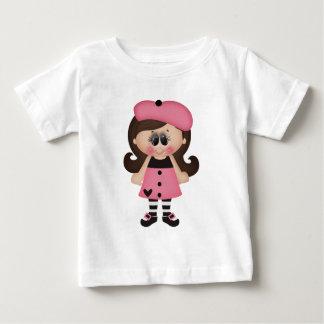 Retro Paris Artist Girl T Shirt
